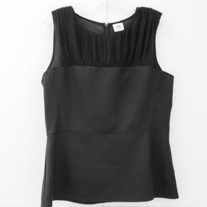 CAbi sz8 Bustier black sleeveless blouse